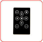 SX-909 Remote Control, very small size, domed membrane keypad